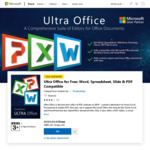 $0: Ultra Office: Word, Spreadsheet, Slide (Was $149.95)  by CompuClever Systems & Neat Office by Any Neat App @ Microsoft Store