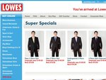 47% Off Fashion Suits - 4 Styles. $79 each - Online Only Until Midnight Monday 27 June. LOWES