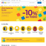 eBay Spain 10% off [No Min Spend, Max Discount €50 (~AU$80.90)]