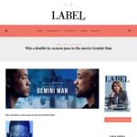 Win a Double in-Season Pass to The Movie Gemini Man from Label Magazine