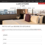 Win 1 of 100 Luxury Overnight Stays in NSW, QLD or VIC from The Lancemore Group [Open Australia-Wide, but No Travel]