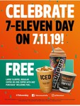 7-Eleven Day (7th November) - Free Large Slurpee, Regular Coffee, Iced Coffee or Coffee Melt with Any Purchase