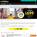 Free $100 Currency Pass When Booking Virgin Australia Tokyo Flights (from $699) @ Universal Traveller (Formerly Student Flights)