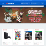 EB Games One Day Sale, Double Carrots @ EB Games (eg: Wolfenstein II $10, PS4 1TB $399)