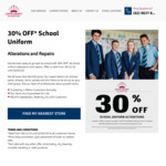 30% off School Uniform Alterations and Repairs @ LookSmart Alterations