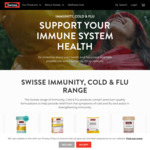40% off RRP on The Swisse Immunity, Cold and Flu Range @ Swisse