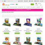50% off Customised Children Books (from $12.50) + Delivery @ Dinkleboo