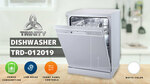 TRINITY TRD-012019 Pearl White 60cm Dishwasher $295 (SAVE $124) + Delivery @ OZeHome