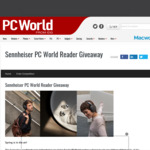 Win 1 of 3 Pairs of Sennheiser Headphones Worth Up to $549.95 from PC World