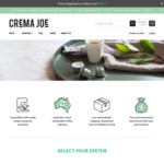 15% off Storewide^ (Free Delivery on Orders over $80) @ Crema Joe