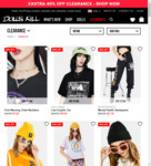 40% off Clearance Items + Free Shipping over $100 @ Dolls Kill