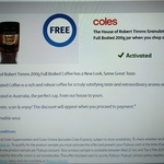 Collect 1 Free The House of Robert Timms Granulated Coffee Full Bodied 200g Jar @ flybuys via Coles