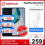 OnePlus Nord N10 5G, 6GB + 128GB, NFC, B28 US$284.90 (A$367.89) Shipped @ OnePlus Official Store AliExpress