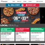 3 Large Traditional Pizzas + 2 Garlic Bread + 2 Bottles of 1.25L Drink from $36.95 Delivered @ Domino's Pizza