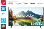Kogan 50 Inch 4K Android TV $390 (Was $649), 70 Inch 4K Android TV $806 (Was $1499) + Shipping & More @ Kogan