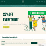 20% off Everything in-Store & Online + $8.95 Delivery ($0 with $49 Spend, Discount Shown in Cart) @ The Body Shop