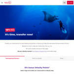15% Bonus Velocity Points Transfer Offer (May 2021) @ Velocity Frequent Flyer