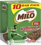 Milo Dipped Snack Bars with White Chocolate 10-Pack $3.50 ($3.15 S&S) + Delivery ($0 Prime/ $39 Spend) @ Amazon AU