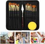 17 Pieces Acrylic Paint Brushes Set $19.18 (Was $32.68) + Delivery ($0 with Prime/ $39 Spend) @ Eocean-Au via Amazon AU
