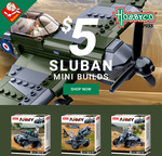 50% off Sluban Mini Builds $5 + $9.50 Delivery ($0 with $99 Spend) @ Hobbyco