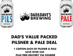 Dad's Value Packed Pilsner 24x375ml and Pale Ale 24x375ml $109.95 (Was $160) Delivered @ Dad & Dave's Brewing