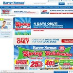 Harvey Norman Spring Sale, up to 40% off Asus Comps, 25% off Aussie Furniture & Other Stuff
