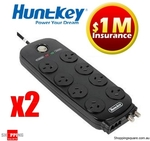 2x Huntkey 8-Way Surge-Protected Power Board $44.94 Delivered ($29.95 + $14.99 Shipping)
