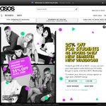 ASOS 25% off for Students. 48 Hours Only. Valid on Full Price Items