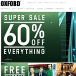 Oxford 60% off Storewide - All Stores and Online