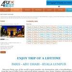 5 nights in Paris + 2 nights in Kuala Lumpur + 3 nights in Abu Dhabi $5100 for 2 people