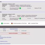 Thai Airways SYD BKK Return $551.66 on October 2013