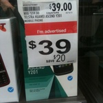 Huawei Y201 at Target $39.00 with $10 Credit Locked to Telstra
