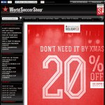 20% off World Soccer Shop (Today Only)