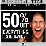 Rivers 50% off Storewide - Starts Boxing Day
