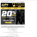 Eastbay 20% off Orders, No Minimum Spend