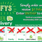 Woolworths Online $1 Delivery - $30+ Orders Delivered Tomorrow Only (Wednesday 25th June)