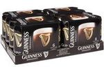 Guinness Draught Cans 440ml $50 at Woolworths and BWS