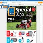 4-Stroke Petrol Lawn Mower $399 - ALDI Special Buys Week 32 - Wednesday 5 Aug