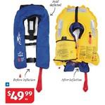 Inflatable Adult PFD (150) /Life Jacket $49.99 @ ALDI