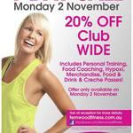 Fernwood Gym Cannington - 20% off Club Wide Monday 2 November [WA]