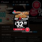 40% off All Pizzas at Domino's (Excludes Value) - $4.77 for Extra Value, $6.57 for Chefs Best