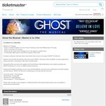 [WA] Ghost The Musical - Free Market&Co Meal Offer with A Reserve Ticket from $105.98 + Fees