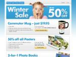 Snapfish Winter Sale up to 50% OFF