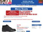 Rivers mens boots are $32 for 4 days @ Rivers, postage $8.80 flat