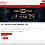 2x Vmax (Event Cinemas) Wednesdays Only Voucher for $30