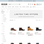 50% off Boots @ Myer (Eg Timberland $129.97 Delivered with Code)