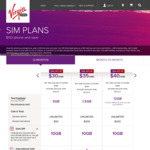 Virgin Mobile - Take 20% off Sim Only Plans When Signing up to a 12 Month Contract (Ends November 11)
