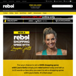 Win a $500 Shopping Spree at Rebel Brisbane Mall + 1 Nights' Accommodation [Flights/Travel Not Included]