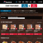 "Domino's New Yorker Style Pizza (16"") $9.95 Pickup or $14.95 Delivered (Min Delivery $22)"