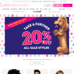 A Further 20% off All Sale Items @ Peter Alexander (Free Shipping) Eg $15.20 Girls Nightie/Men Boxer Shorts, $28 Boys PJ Set